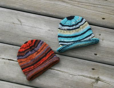 Striped baby hats 091310