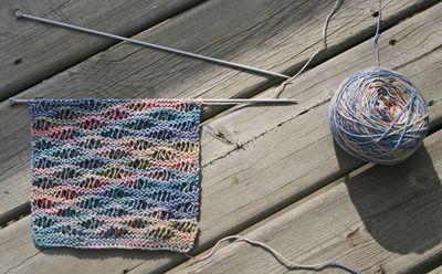 Drop stitch scarf 042510