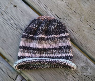 Stripey baby hat edit