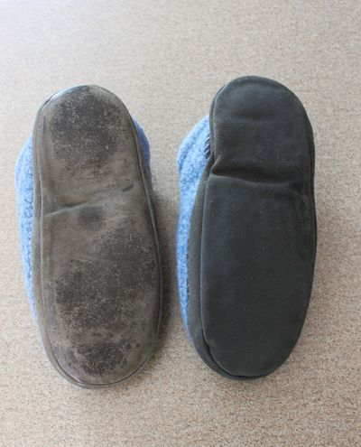 One dry and one wet clog