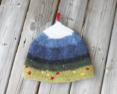 Tindur tea cozy side 1