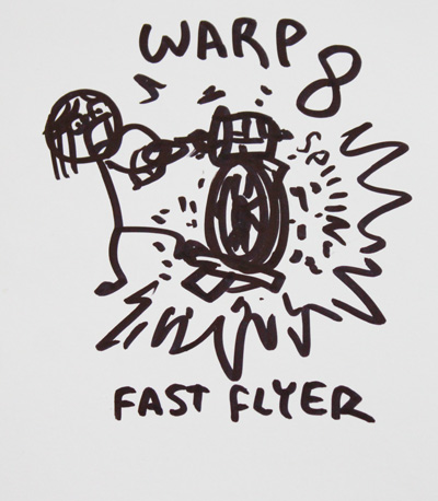 Fast flyer cartoon