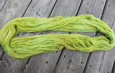 Lemongrass KoolAid yarn