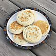 Homemade crumpets, June 21