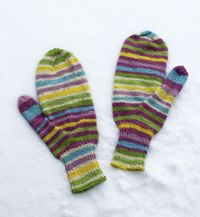 Striped mitts 110812