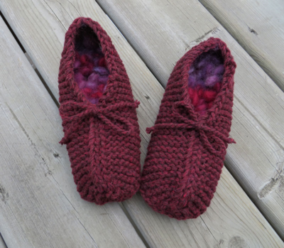 These slippers are dark blood red in real life - my camera cannot handle the colour!