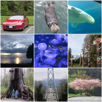 A day in Stanley Park! (That isn't our car - it was a loaner for the day while ours was having a check-up.)