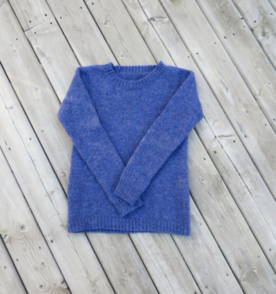 And a photo of the sweater after fulling