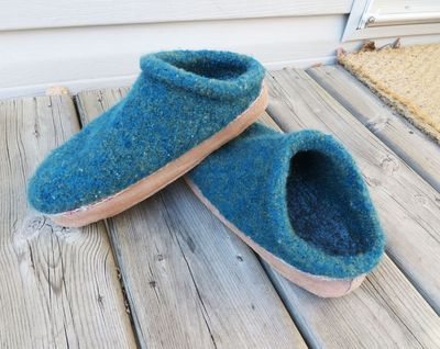 Felted clogs 022216