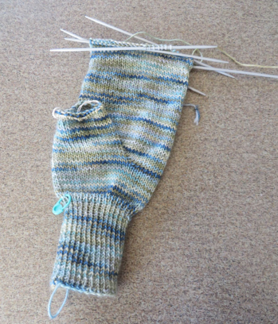 I should have knit it with Kroy!
