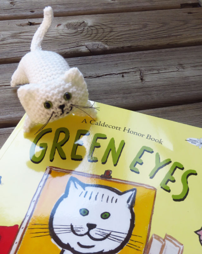 Green eyes with book 080516