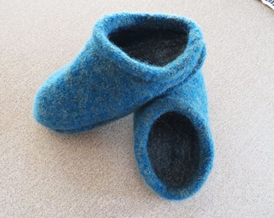 Felted clogs 021916
