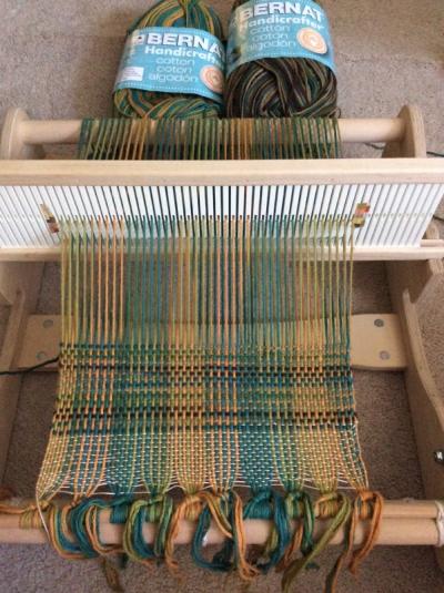 Weaving in progress!