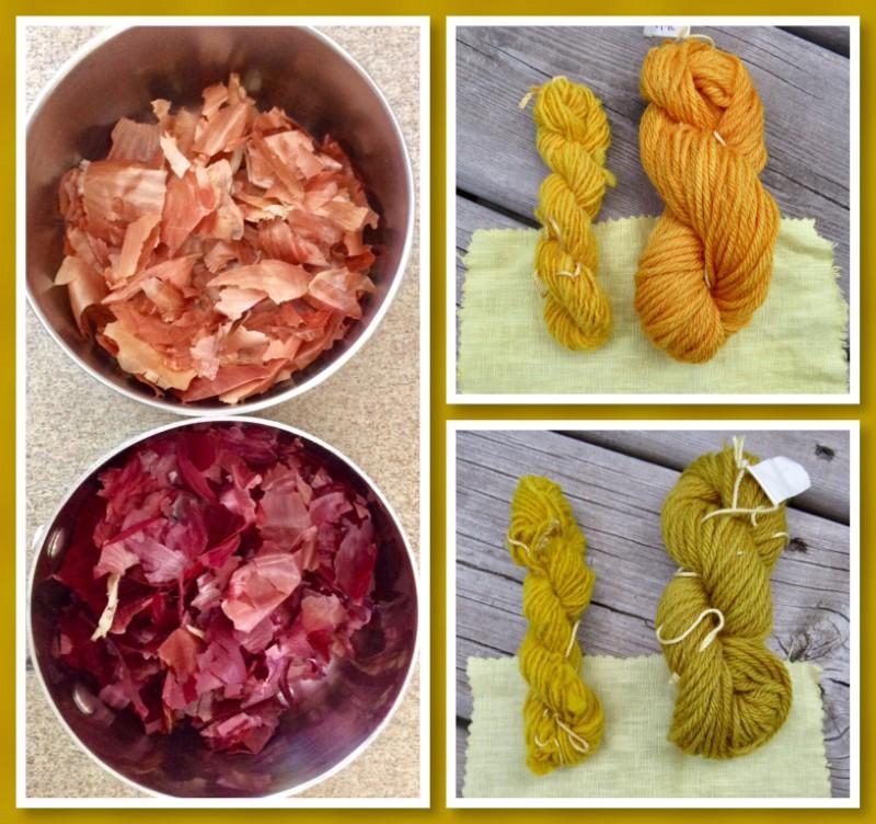 Onion skin dye collage (Custom)