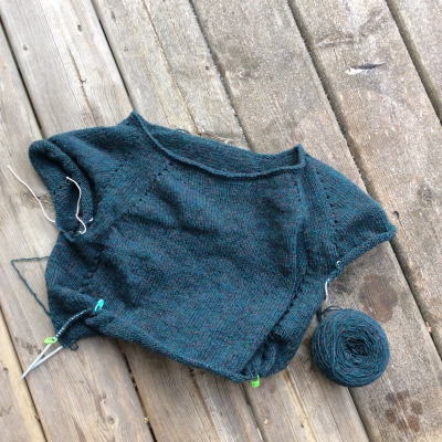 Frogged yarn holly sweater (Custom)