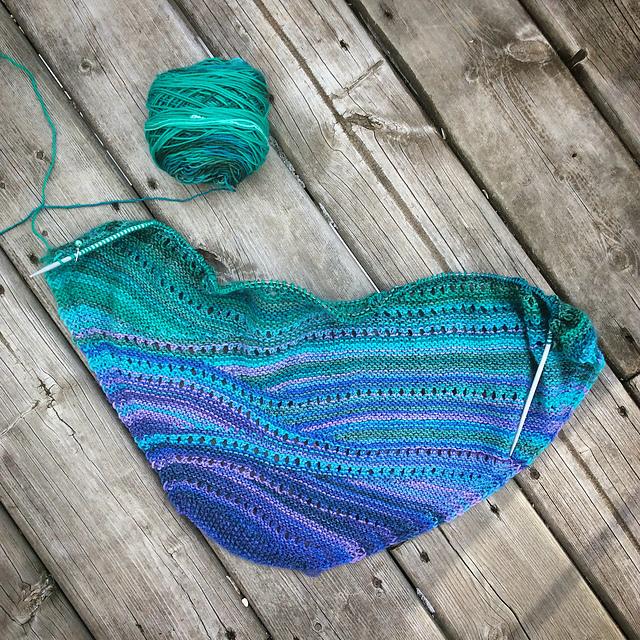 Bermuda scarf in progress