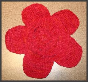 Flower washcloth