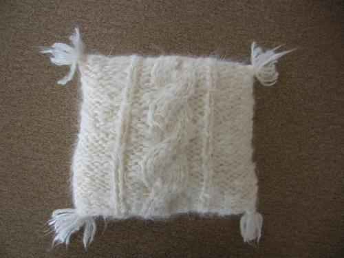 Cabled Divine Mini Pillow