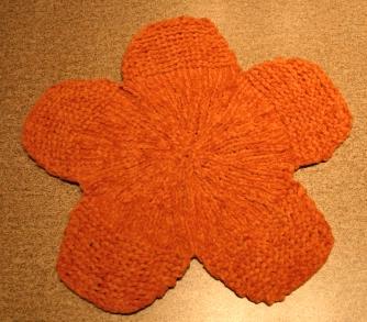 Orange Flower Washcloth