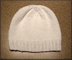 White Cotton Tots Hat