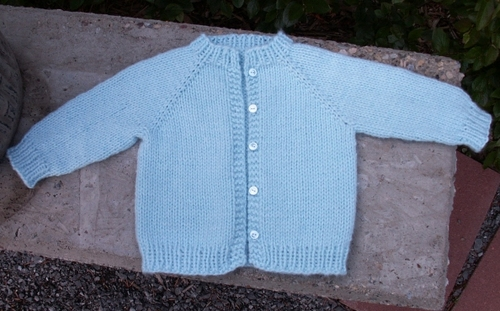 Blue Raglan Sweater