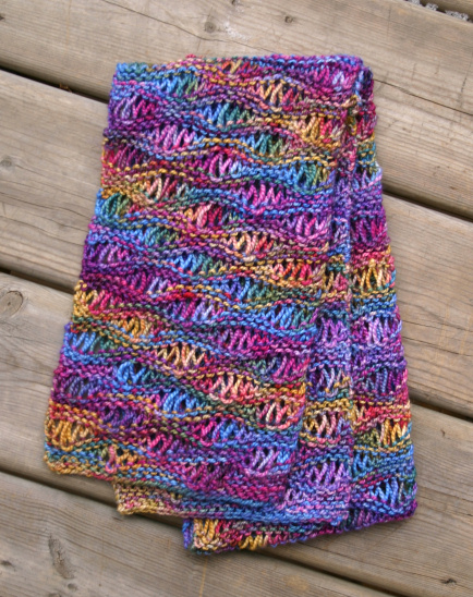 What Knit Stitch For Scarf : Completed Projects 2006: Drop Stitch Scarf