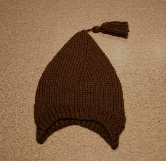 Chocolate Brown Ear Cozies Hat