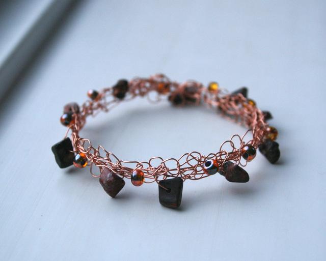 Copper Knitted Bracelet