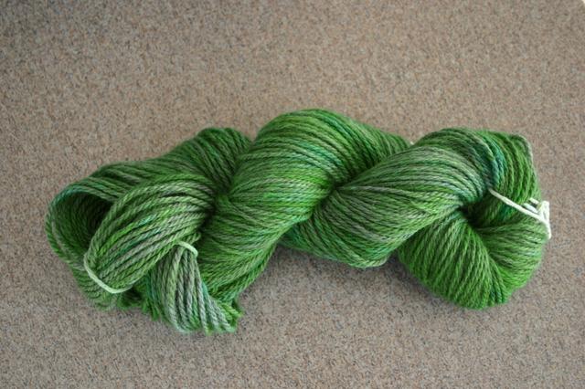 Green KoolAid Dyed Yarn