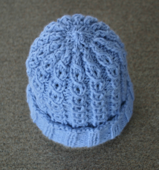 Mock Cable Baby Hat