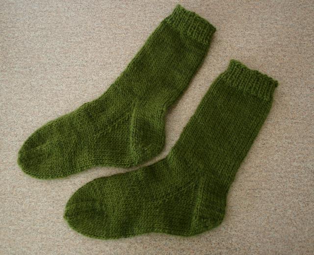 Warm Green Fuzzy Socks