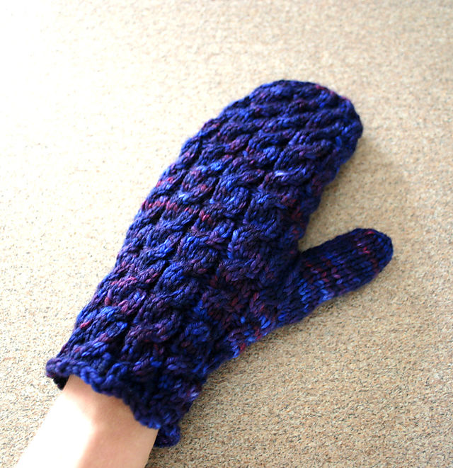 Cable Rib Mittens