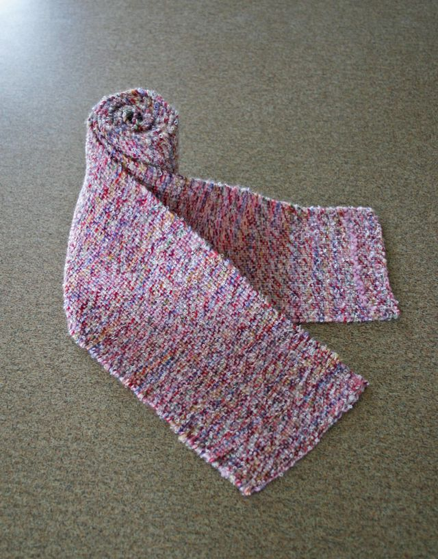 Pink Boucle Scarf