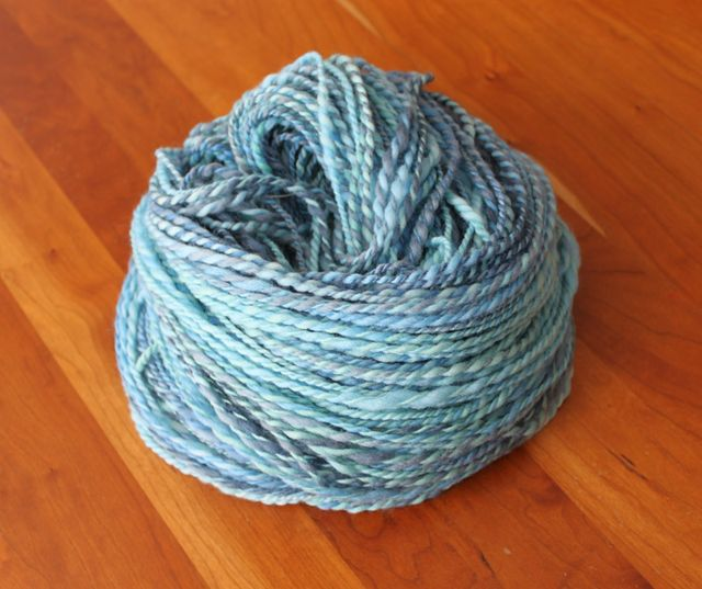 Blue Polwarth handspun